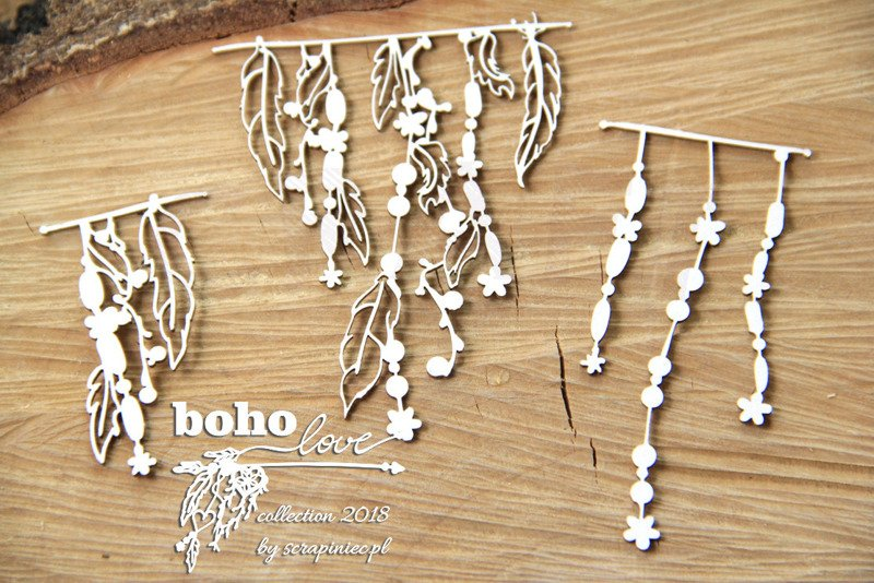 Boho Love - small garlands 02 - małe girlandy 02